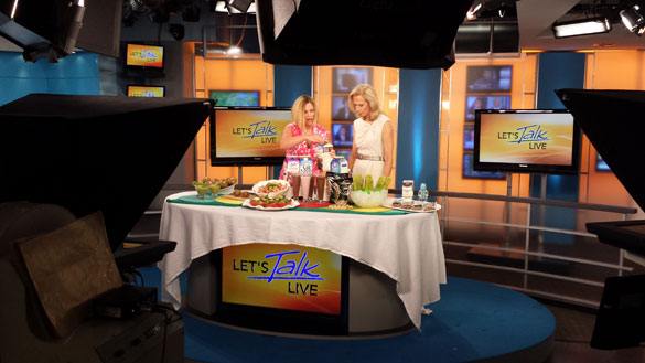 On the set of Let's Talk Live D.C.