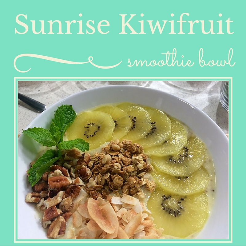Sunrise Kiwi Smoothie Bowl