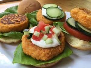 Zesty buffalo chickpea sliders with homestyle ranch